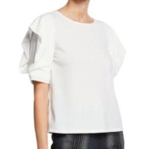 "Rachel Roy ""Britnie"" T-shirt with Ruffle Sleeve"